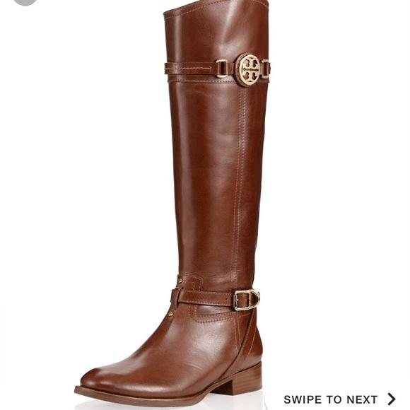 15517961db8f Tory Burch Calista Riding Boots (Almond). M 5b3e5224aa5719dfed2e9ed6